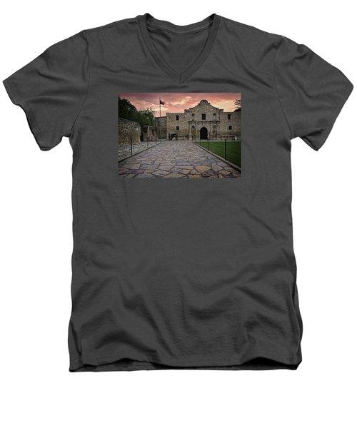 Alamo Men's V-Neck T-Shirt by John Gilbert