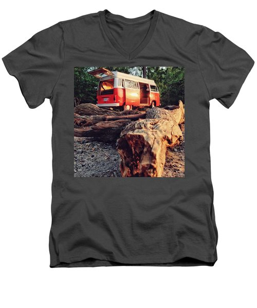 Alani By The River Men's V-Neck T-Shirt by Andrew Weills