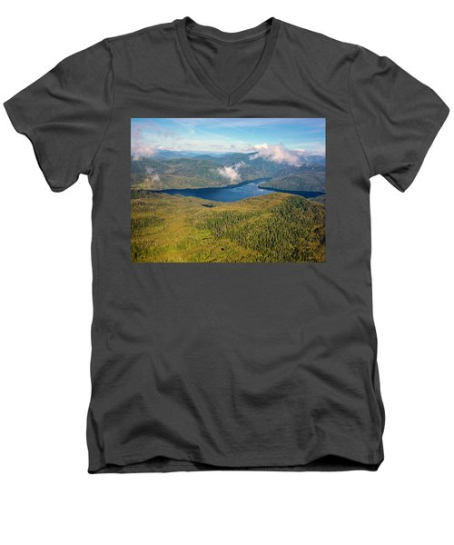Men's V-Neck T-Shirt featuring the photograph Alaska Overview by Madeline Ellis