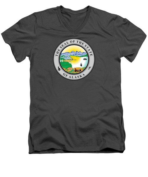 Alaska State Seal Men's V-Neck T-Shirt