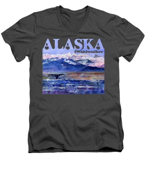 Alaskan Landscape On Water Shirt Men's V-Neck T-Shirt