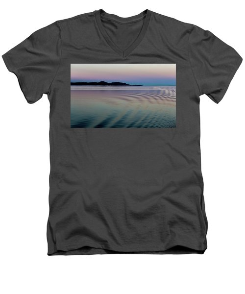 Alaskan Sunset At Sea Men's V-Neck T-Shirt