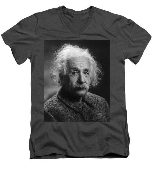 Albert Einstein, 1947. Age 68. Men's V-Neck T-Shirt