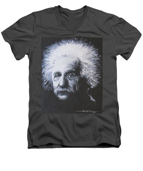 Albert Einstein Men's V-Neck T-Shirt