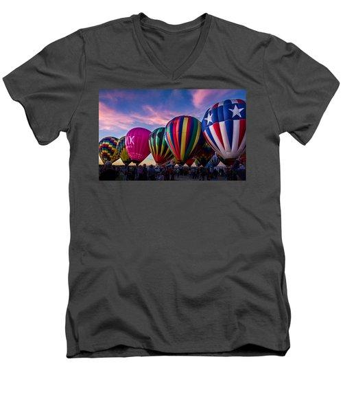 Albuquerque Hot Air Balloon Fiesta Men's V-Neck T-Shirt