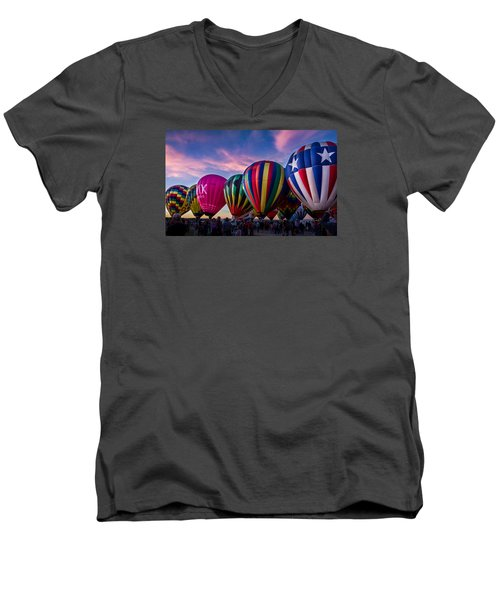 Albuquerque Hot Air Balloon Fiesta Men's V-Neck T-Shirt