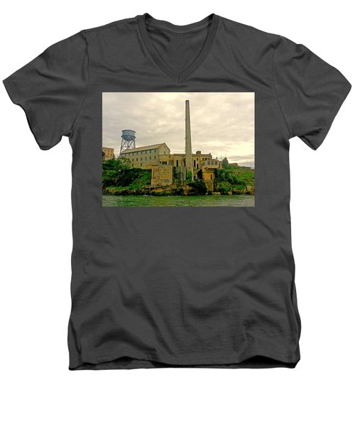 Alcatraz From The West Men's V-Neck T-Shirt