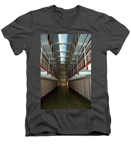 Alcatraz Revisited Men's V-Neck T-Shirt