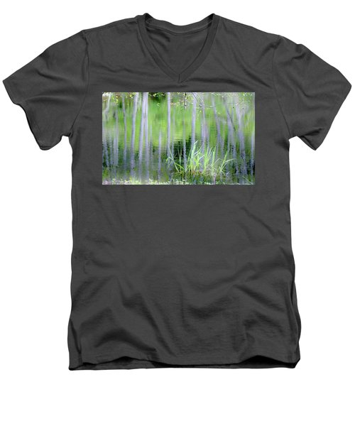 Alder Reflections Men's V-Neck T-Shirt by Sheila Ping