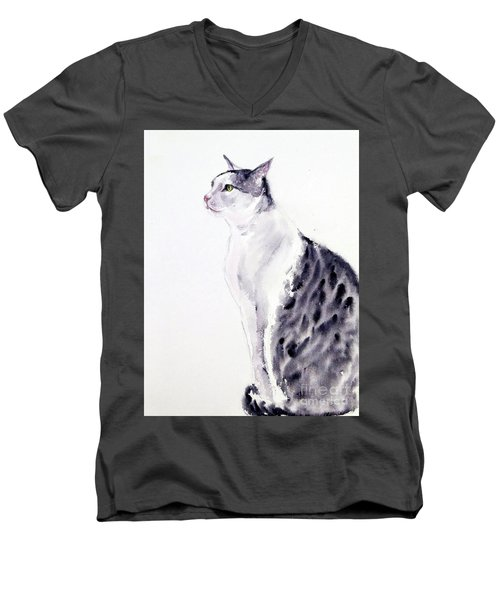 Alert Cat Men's V-Neck T-Shirt