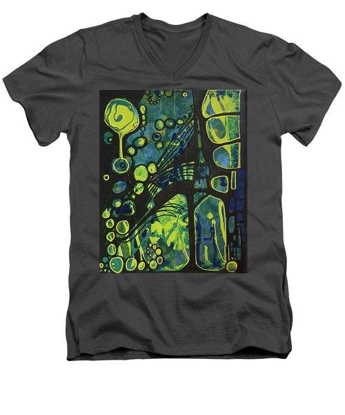Alien Blue #2 Men's V-Neck T-Shirt