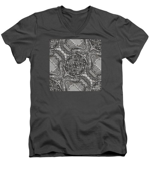 Alien Building Materials Men's V-Neck T-Shirt by Craig Walters