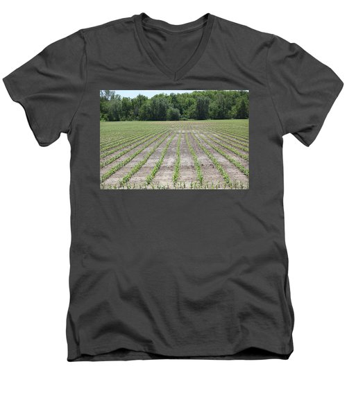 Alien  Crop Lines Men's V-Neck T-Shirt