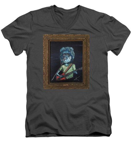 Alien Jerry Garcia Men's V-Neck T-Shirt by Similar Alien
