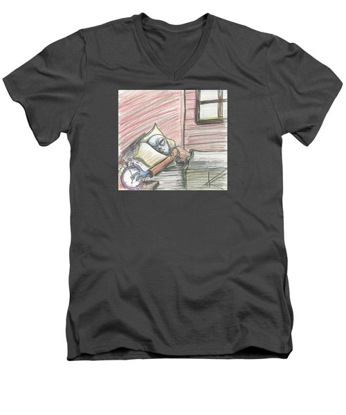 Alien Keeps Snoozin Men's V-Neck T-Shirt