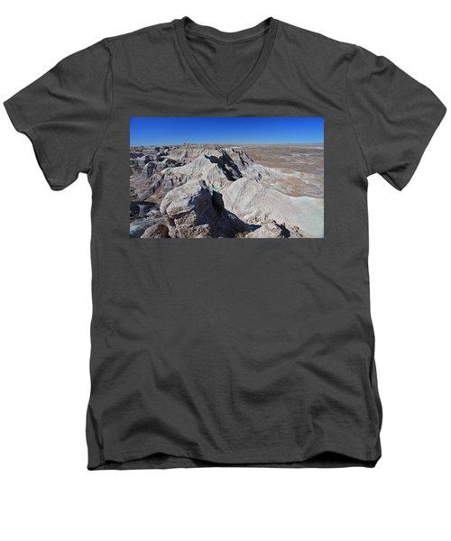 Men's V-Neck T-Shirt featuring the photograph Alien Landscape by Gary Kaylor