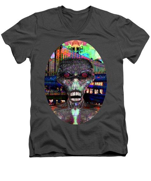 Alien Portrait Men's V-Neck T-Shirt