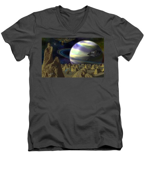 Alien Repose Men's V-Neck T-Shirt