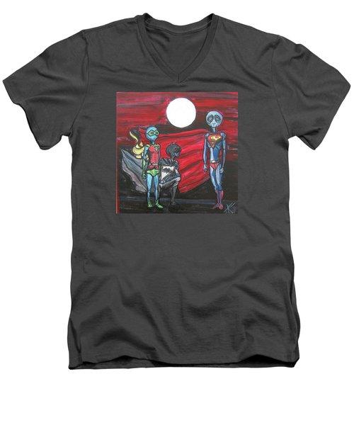 Alien Superheros Men's V-Neck T-Shirt