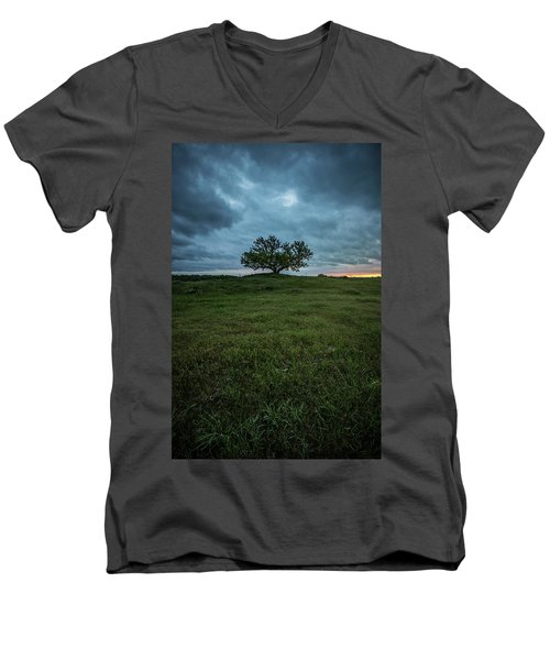 Alive Men's V-Neck T-Shirt by Aaron J Groen