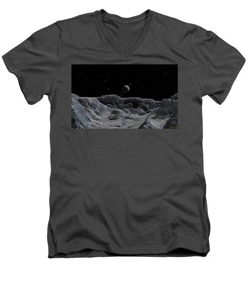 All Alone Men's V-Neck T-Shirt by David Robinson