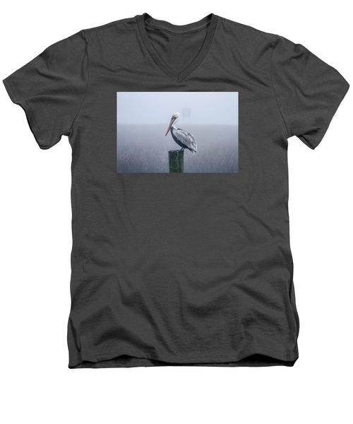 All Alone Men's V-Neck T-Shirt by Menachem Ganon