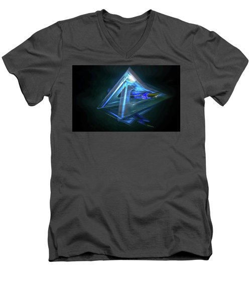 All Angles Covered Men's V-Neck T-Shirt by Mark Dunton
