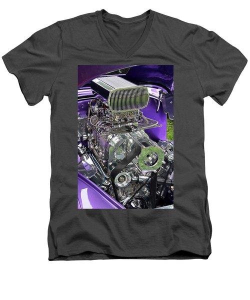 All Chromed Engine With Blower Men's V-Neck T-Shirt