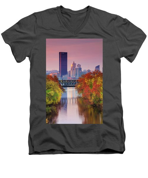 All Pittsburgh Pink  Men's V-Neck T-Shirt
