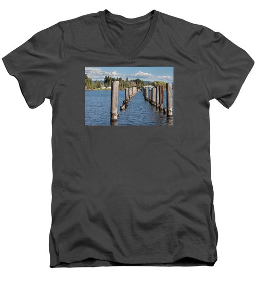 Men's V-Neck T-Shirt featuring the photograph All That Remains by Fran Riley