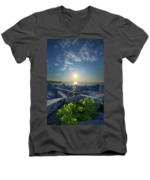 Men's V-Neck T-Shirt featuring the photograph All Things Are Possible by Phil Koch