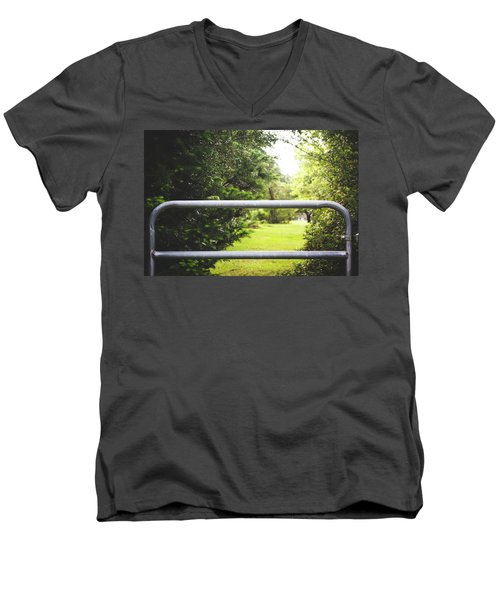 Men's V-Neck T-Shirt featuring the photograph All Things Green by Shelby Young