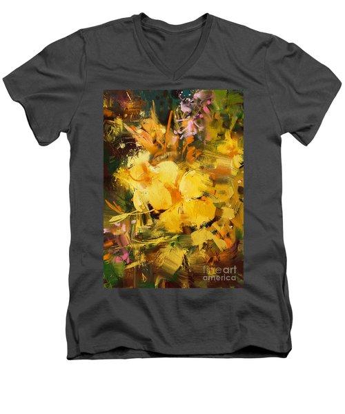 Allamanda Men's V-Neck T-Shirt