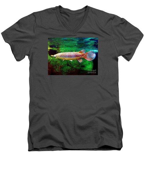 Alligator Gar Fish  Men's V-Neck T-Shirt by Merton Allen