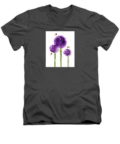 Alliums Humming Men's V-Neck T-Shirt
