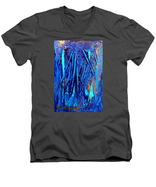 Alll That Glitters Men's V-Neck T-Shirt by Mary Sullivan