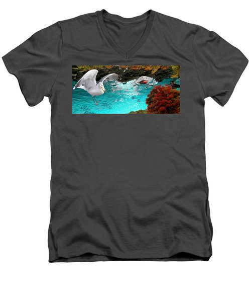 Men's V-Neck T-Shirt featuring the photograph Allure Of Treats by Mike Breau
