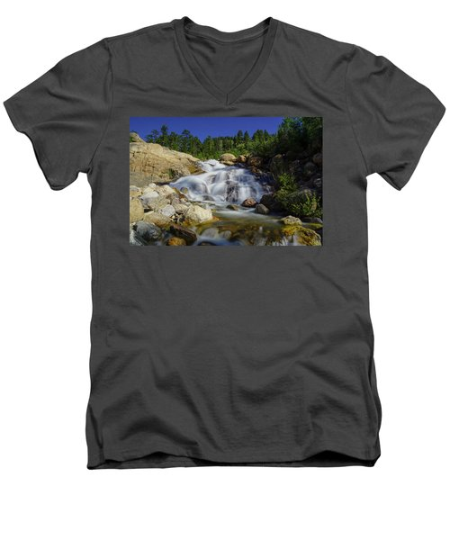 Alluvial Sands Water Fall Men's V-Neck T-Shirt