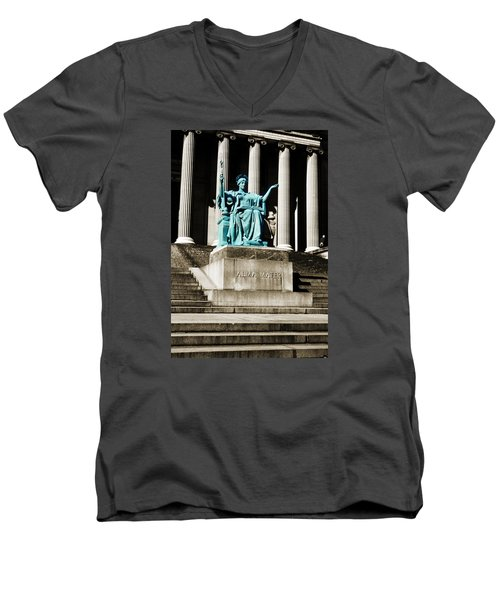 Alma Mater Men's V-Neck T-Shirt by Marilyn Hunt