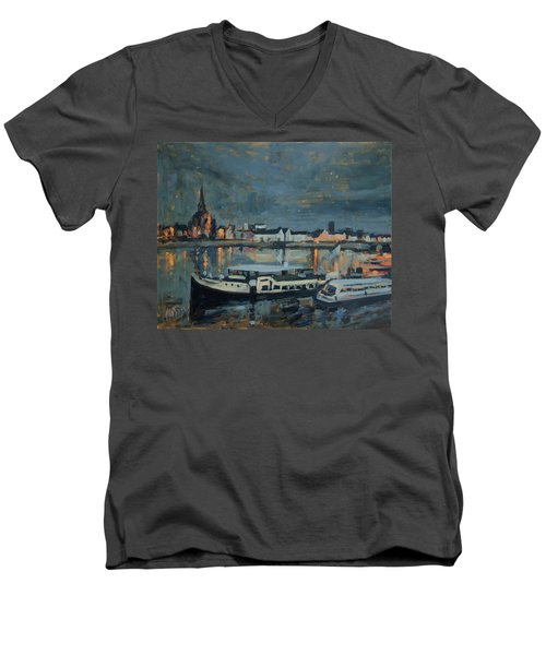 Almost Christmas In Maastricht Men's V-Neck T-Shirt by Nop Briex