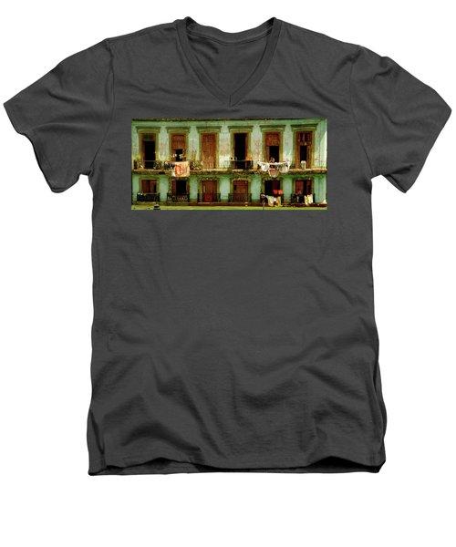 Almost Dry Men's V-Neck T-Shirt by Valerie Rosen