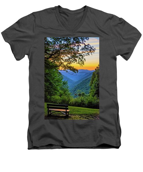 Almost Heaven - West Virginia 3 Men's V-Neck T-Shirt