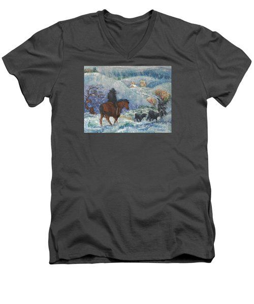 Almost Home Men's V-Neck T-Shirt by Dawn Senior-Trask