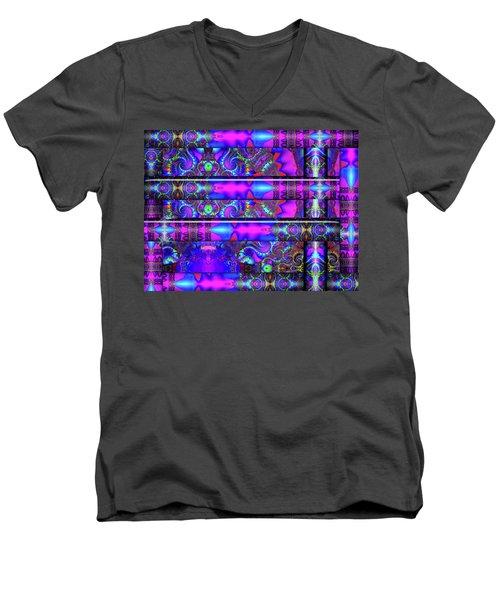 Men's V-Neck T-Shirt featuring the digital art Almost Home by Robert Orinski