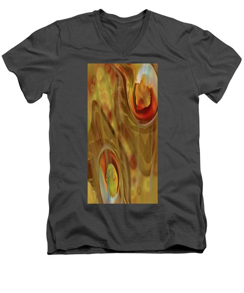 Men's V-Neck T-Shirt featuring the digital art Almost Resting by Steve Sperry