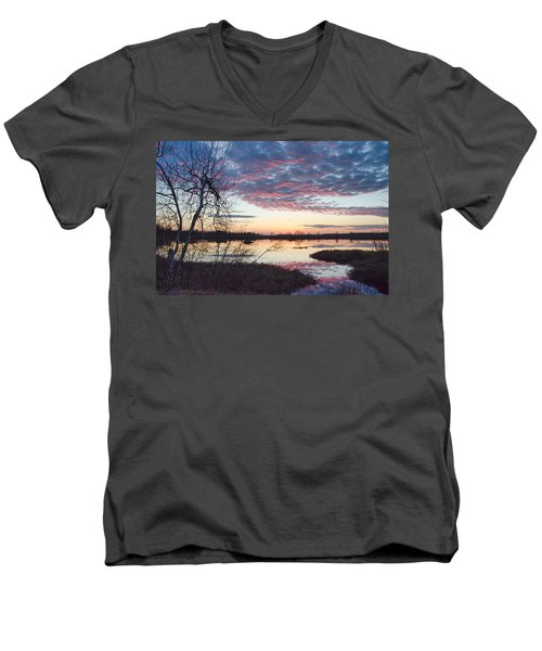 Almost Spring Sunset Men's V-Neck T-Shirt
