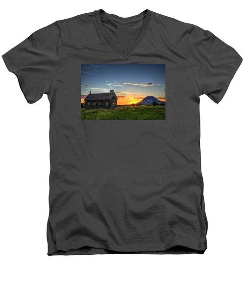 Almost Sunrise Men's V-Neck T-Shirt by Fiskr Larsen
