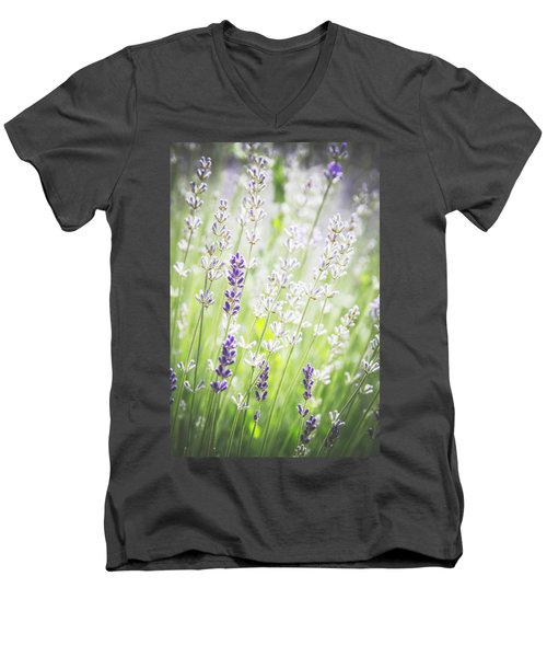 Men's V-Neck T-Shirt featuring the photograph Almost Wild..... by Russell Styles