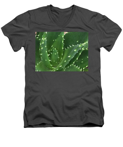 Aloe-icious Men's V-Neck T-Shirt by Russell Keating