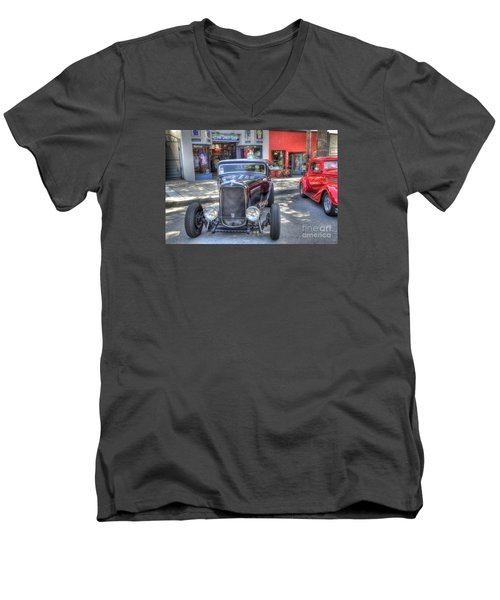 Aloha Cars And Pinups Men's V-Neck T-Shirt